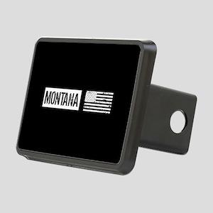 U.S. Flag: Montana Rectangular Hitch Cover
