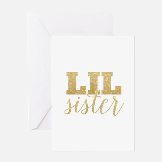Glitter Lil Sister Greeting Cards