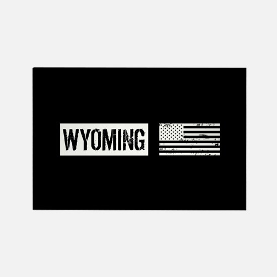 U.S. Flag: Wyoming Rectangle Magnet