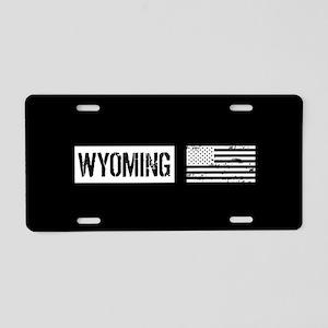 U.S. Flag: Wyoming Aluminum License Plate