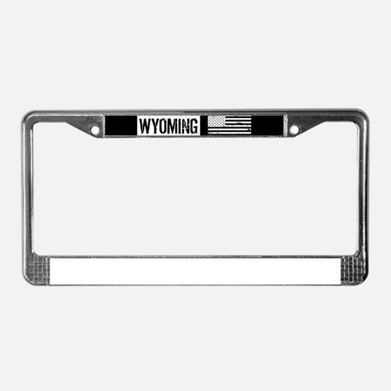 U.S. Flag: Wyoming License Plate Frame