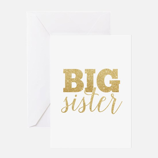 Glitter Big Sister Greeting Cards