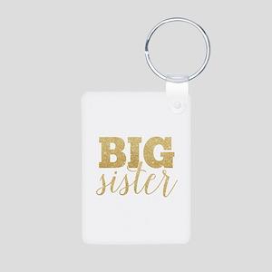 Glitter Big Sister Keychains
