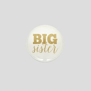 Glitter Big Sister Mini Button