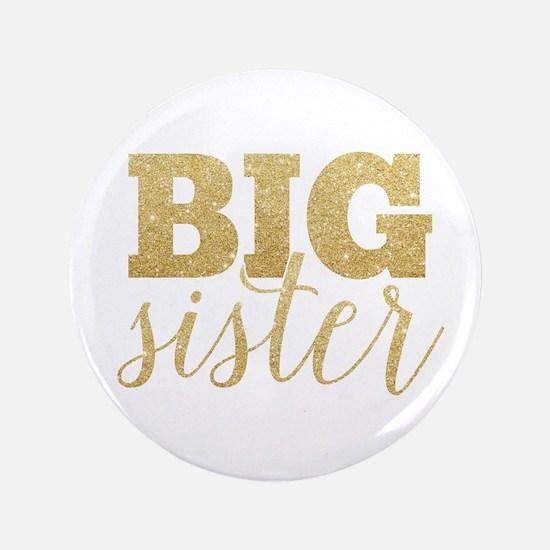 Glitter Big Sister Button