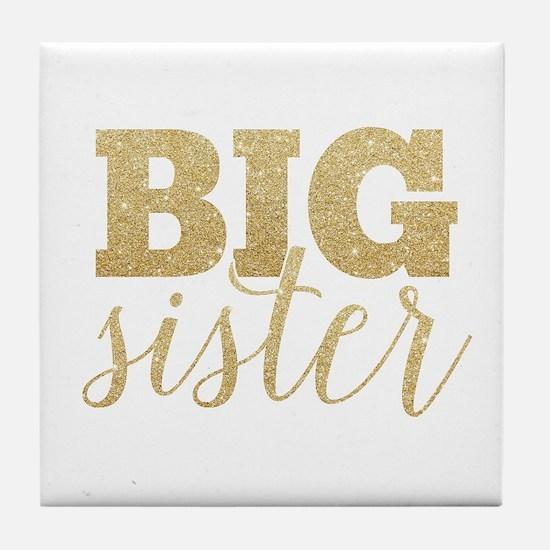 Glitter Big Sister Tile Coaster