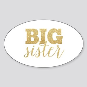 Glitter Big Sister Sticker