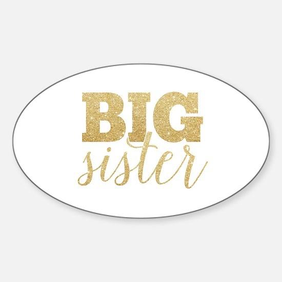 Glitter Big Sister Decal