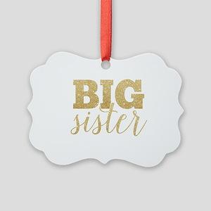 Glitter Big Sister Picture Ornament