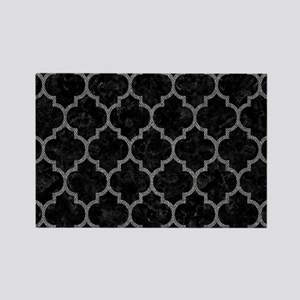 TILE1 BLACK MARBLE & GRAY DENIM ( Rectangle Magnet