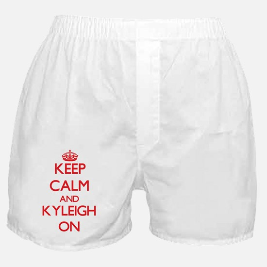 Keep Calm and Kyleigh ON Boxer Shorts