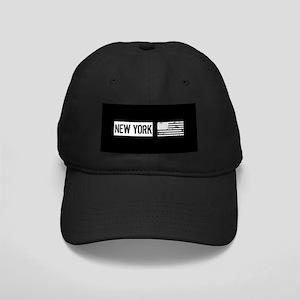 Black & White U.S. Flag: New York Black Cap