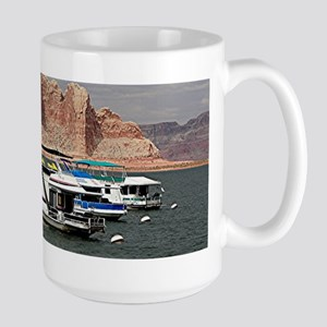 Houseboat, Lake Powell, Arizona, USA 3 Mugs