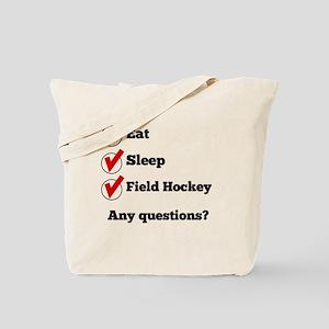 Eat Sleep Field Hockey Checklist Tote Bag