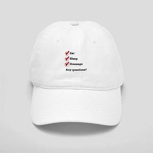 Eat Sleep Dressage Checklist Baseball Cap