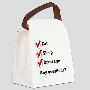 Eat Sleep Dressage Checklist Canvas Lunch Bag