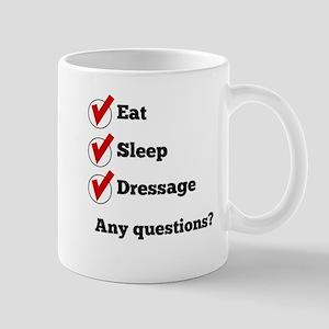 Eat Sleep Dressage Checklist Mugs