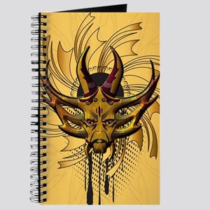 Awesome skull in gold and red Journal