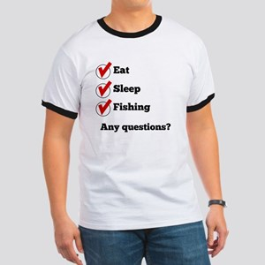 Eat Sleep Fishing Checklist T-Shirt