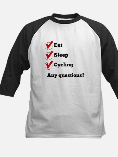 Eat Sleep Cycling Checklist Baseball Jersey