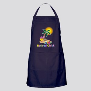Retired Chick on Vacation Apron (dark)