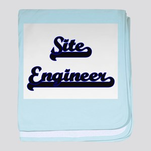 Site Engineer Classic Job Design baby blanket
