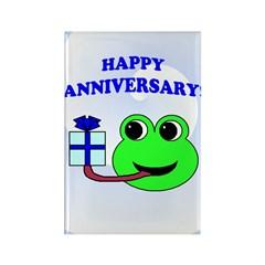HAPPY/HOPPY ANNIVERSARY Rectangle Magnet (10 pack)