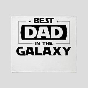 Best Dad In The Galaxy Throw Blanket