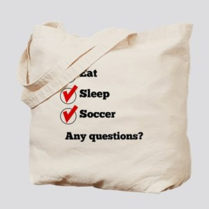 Eat Sleep Soccer Checklist Tote Bag