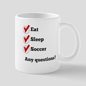 Eat Sleep Soccer Checklist Mugs