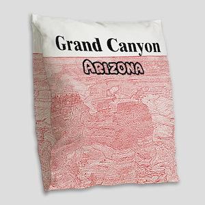 Grand Canyon Burlap Throw Pillow