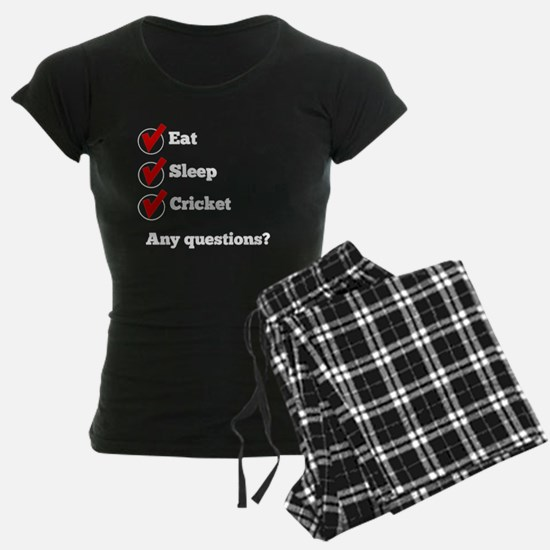 Eat Sleep Cricket Checklist Pajamas