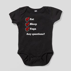 Eat Sleep Yoga Checklist Baby Bodysuit