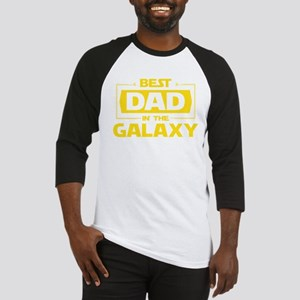 Best Dad In The Galaxy Baseball Jersey