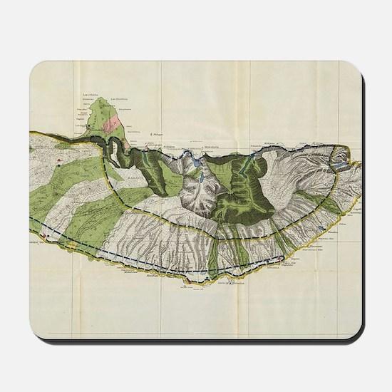 Vintage Map of Molokai Hawaii (1906) Mousepad