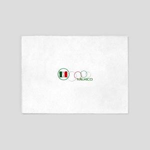 mexico circle-v2 5'x7'Area Rug