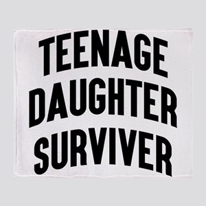 Teenage Daughter Surviver Throw Blanket