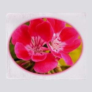 Pink flower Throw Blanket