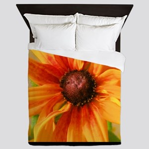 Orange flower Queen Duvet