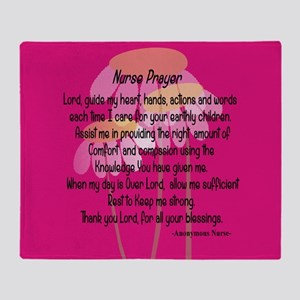 Nurse Prayer Throw Blanket