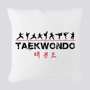 Taekwondo Woven Throw Pillow
