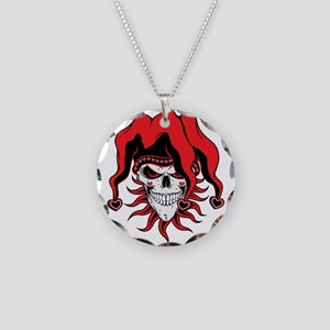 Jester Skull Of Love Necklace Circle Charm