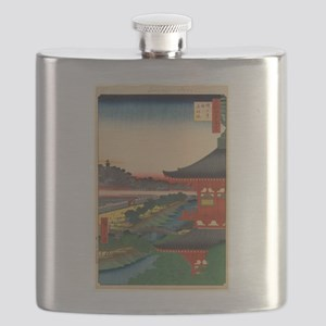 JAPANESE PRINT OF EDO 2 Flask