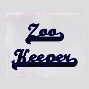 Zoo Keeper Classic Job Design Throw Blanket