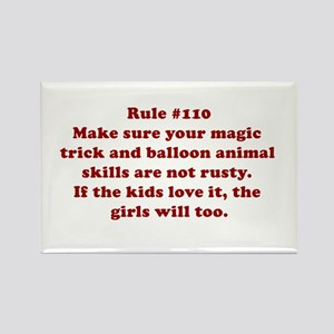 Rule #110 Rectangle Magnet