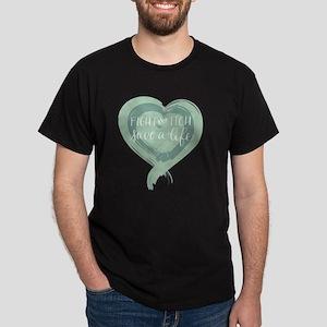 Tagline Heart - Fight the Itch. Save  Dark T-Shirt