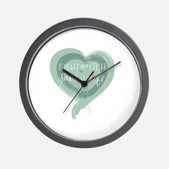 Tagline Heart - Fight the Itch. Save a  Wall Clock