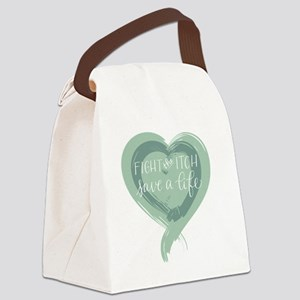 Tagline Heart - Fight the Itch. S Canvas Lunch Bag