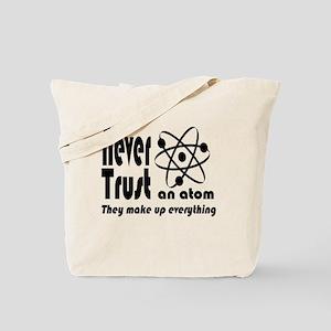 Never Trust Atom Vintage Tote Bag