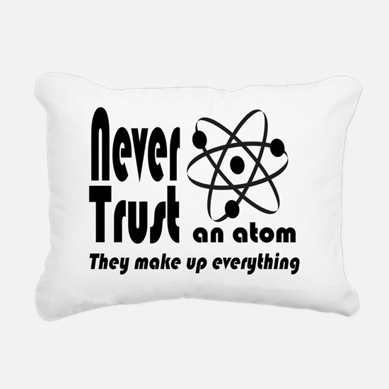 Never Trust Atom Vintage Rectangular Canvas Pillow